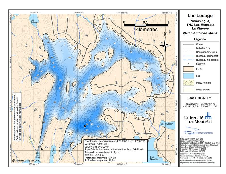 Lac-Lesage bathymetrique